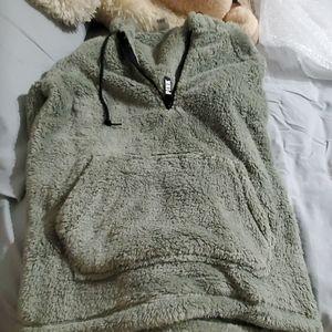 Pink Teddy Half Zip Pullover Size XS